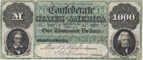 $1000 Confederate Bill